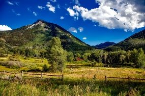 ranch at the foot of the rocky mountains in colorado