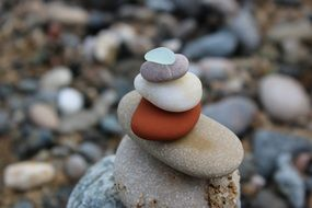 stones as balance in nature
