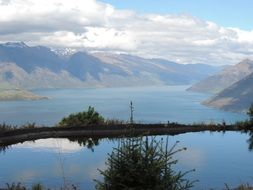 Landscape with the lake in New Zealand
