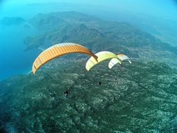Paragliding extreme sport activity