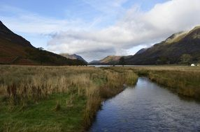 panorama of Buttermere Lake in England