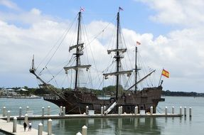 Galleon Ship Moored