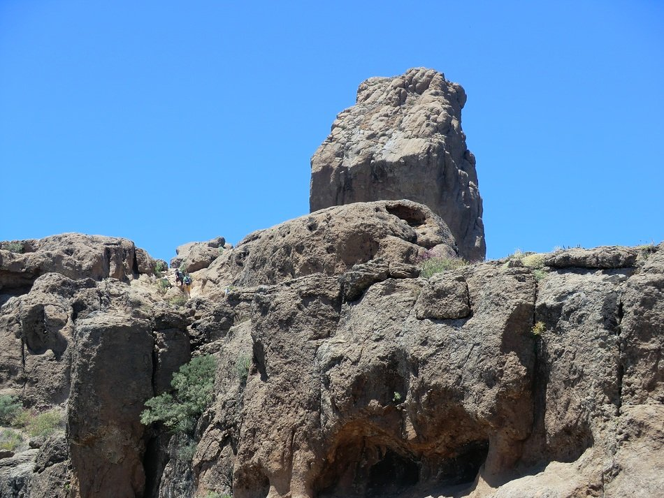 Roque Nublo - volcanic rock