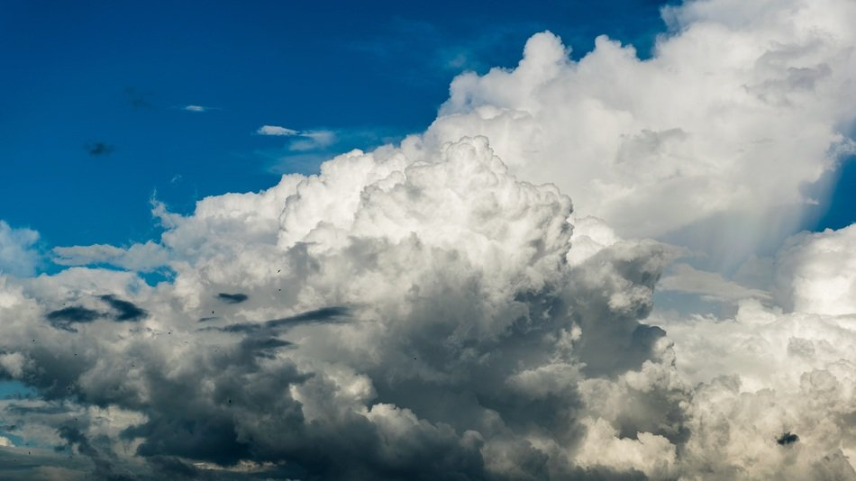 white cumulus clouds closeup