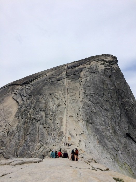 Hiking on half dome