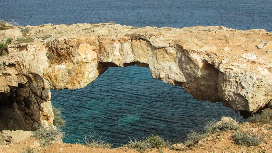 natural bridge in cape Greco