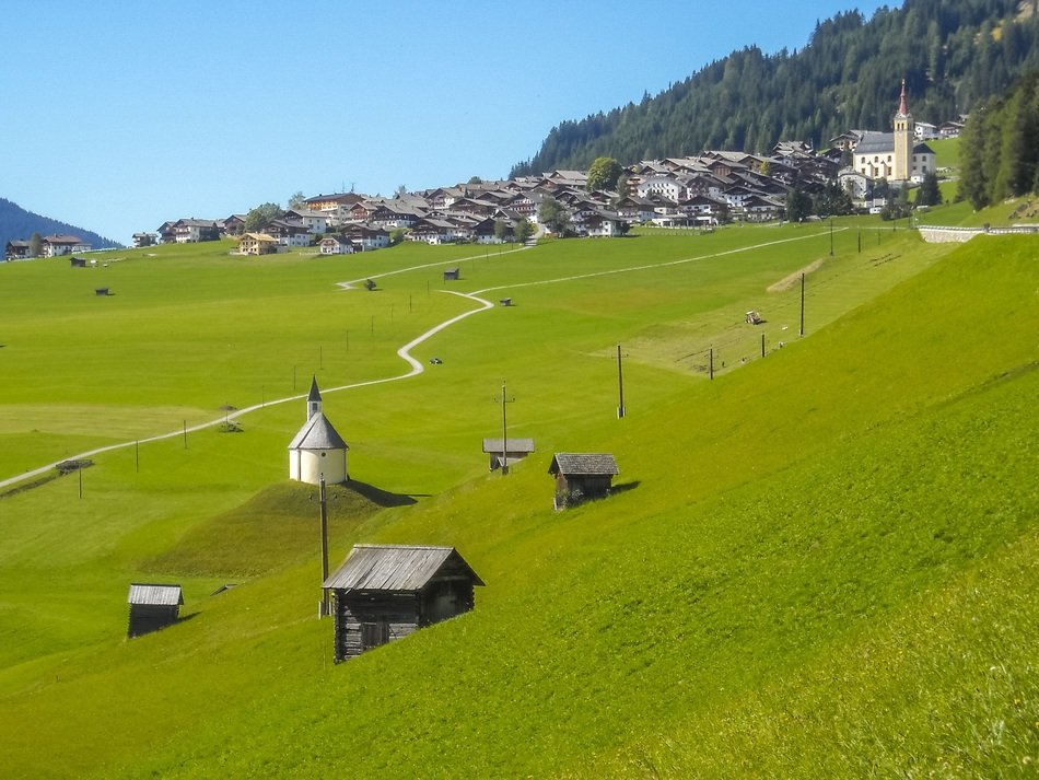 green Lesachtal Valley Alpine Austria view