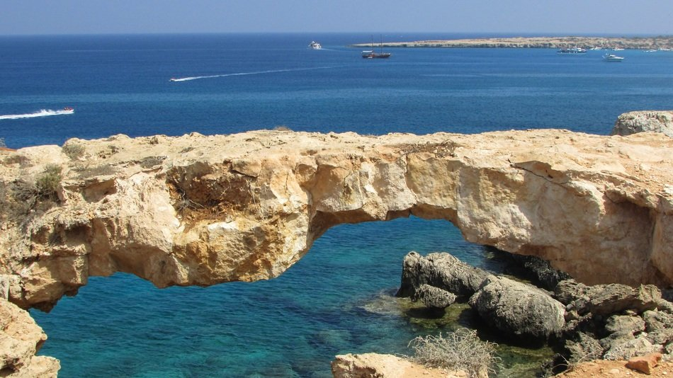 natural korakas bridge in the cape greco