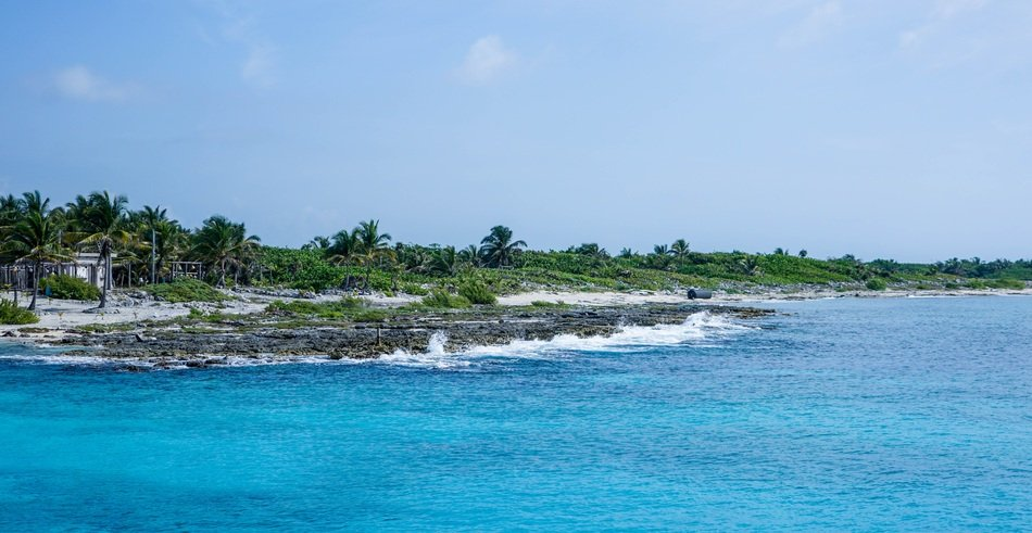 panorama of the coast of the island of Cozumel