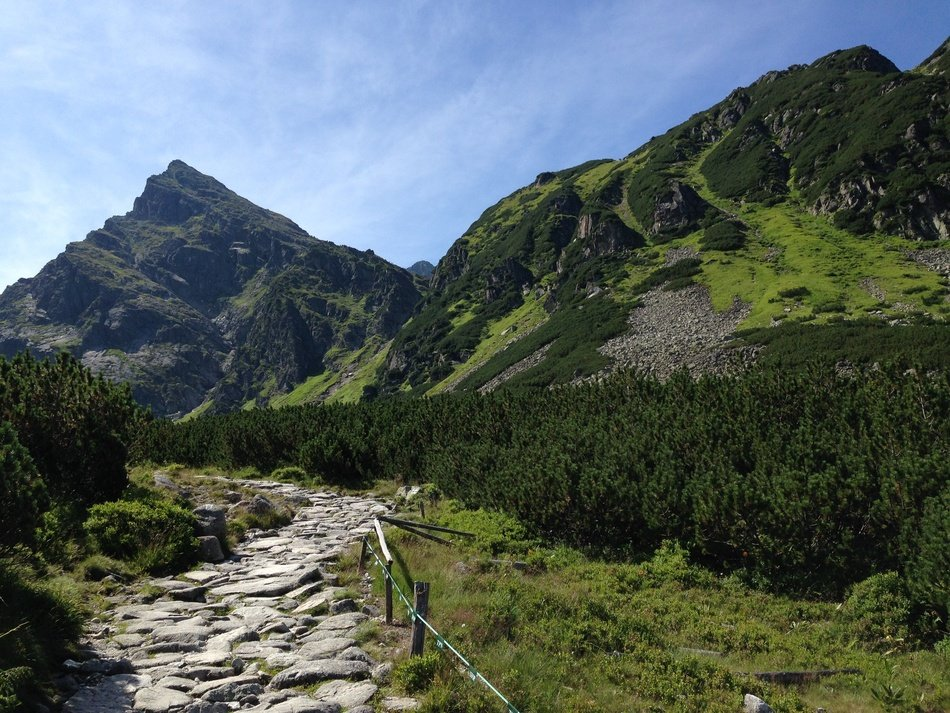 stone path in tatry poland mountains landscape
