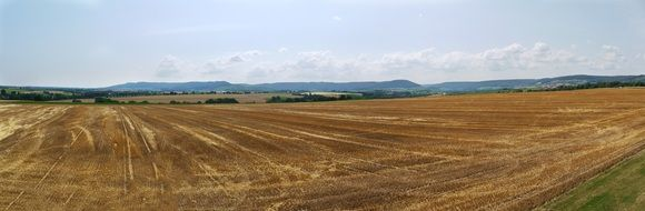 panoramic view of the field after harvest