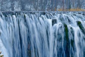cold winter waterfall cascade