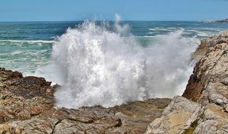 wave on a stone in south africa