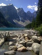 Landscape of Moraine Lake in Canada
