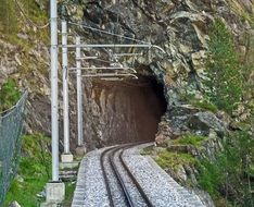 entrance to the tunnel with the railway