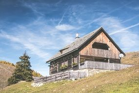 chalet in sunny alps