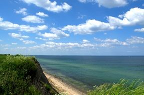 panorama of a cliff on the shore of the Baltic Sea
