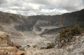 volcano crater on the mountain