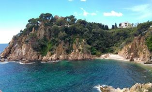 beach on the Costa Brava in Spain