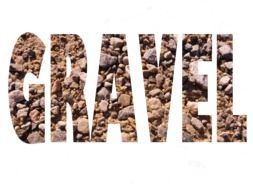 gravel rocks as a word