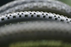 bicycle wheel in profile close-up