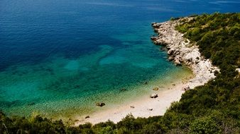 panorama of the adriatic coast in croatia