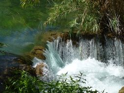 panorama of Dalmatia waterfalls in a national park in croatia
