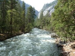 river in Yosemite national park
