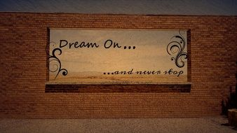 Dream on text poster drawing
