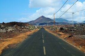 road to the volcano on the ascension island