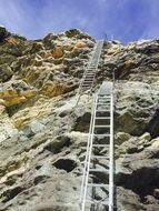 high cliff staircase