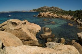 large stones on the coast in sardinia