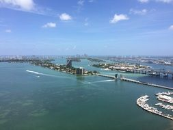 picturesque panorama of the coast of Miami