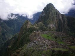 Landscape of Maccu Picchu on the mountain