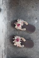 Slippers Shoes Flowers