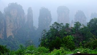 mountains in china as scenery