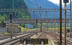landscape of The Gotthard railway is the Swiss trans-alpine railway line from northern Switzerland to the canton of Ticino