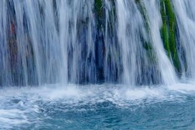 beautiful water cascade