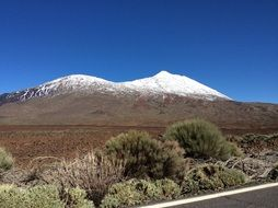 snow on Volcano in Tenerife view