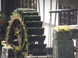 old mossy Mill Wheel