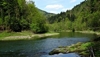 River Pieniny Mountains Landscape