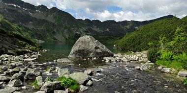 River tatry mountains landscape