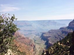 view of the Grand Canyon from a bird\'s flight