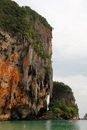 high cliffs on the coast of thailand