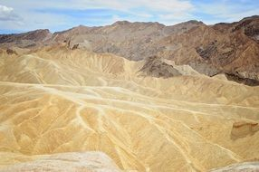 scenic view of the death valley