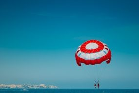 parachute as extreme over the sea