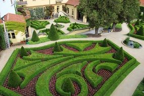 beautiful garden in Prague