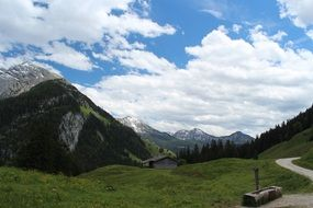 shed on a mountain meadow in Austria