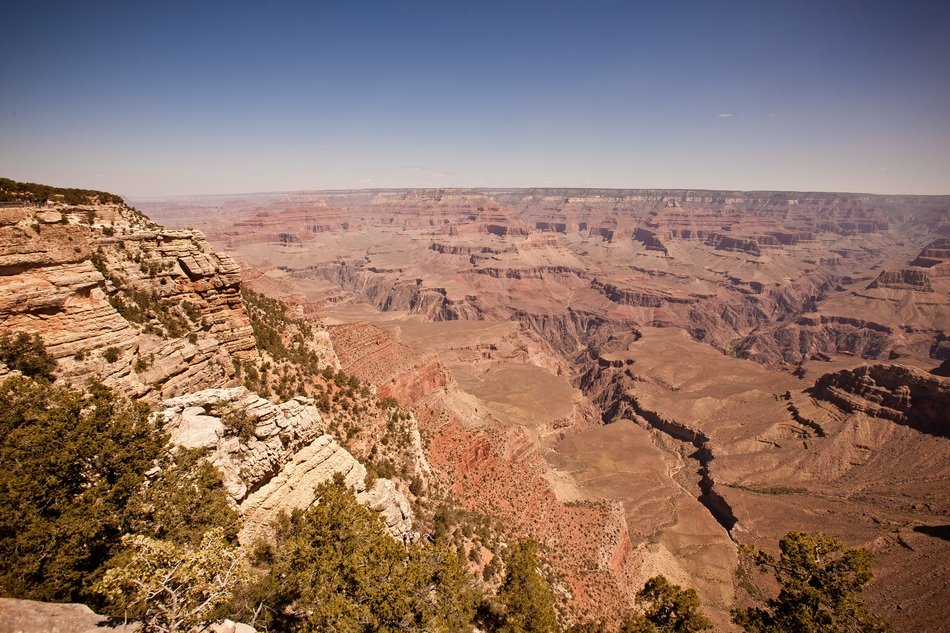 panorama of grand canyon national park in america