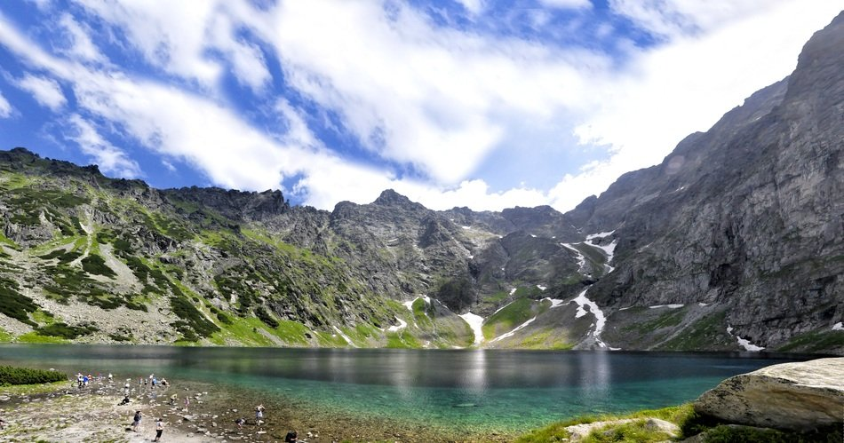 panorama of the black pond in the high Tatras